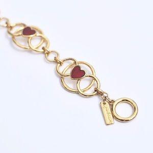 Jewelmint Mon Amour Heart Valentine Gold Bracelet